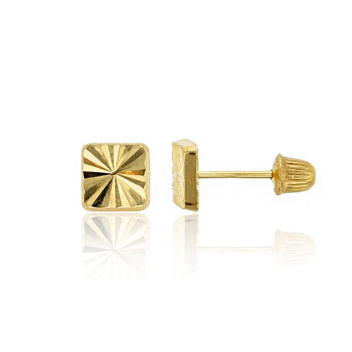 Square gold earrings  Etsy