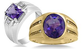 Men's Amethyst Rings