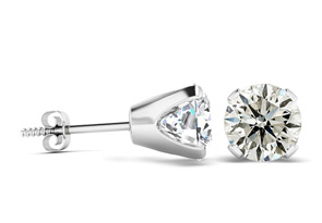 2ct Diamond Stud Earrings in 14k White Gold