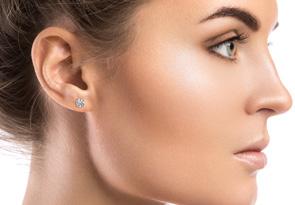 1ct Diamond Stud Earrings in White Gold