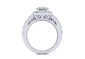 2.25ct Princess Diamond Bridal Set in 14k White Gold