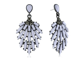 Passiana Cascading Crystal Earrings, Gray