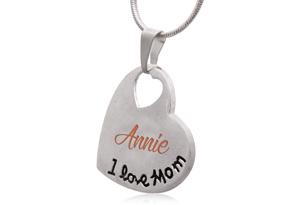 'I Love Mom' Heart Necklace