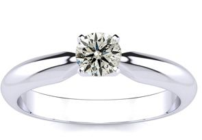 1/4CT DIAMOND ENGAGEMENT RING IN 10K WHITE GOLD, INCREDIBLE VALUE!