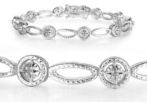Jolie 1//4 Carat Diamant Tennis Bracelet en or blanc superposition Nouveau Arrivé!!