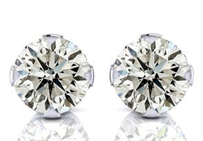 Nearly 1/2ct Diamond Stud Earrings in 14k White Gold
