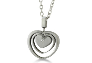 Triple Heart Stainless Steel Necklace