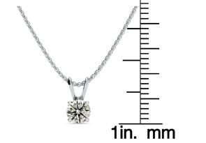 1/2ct Diamond Solitaire Pendant in 14k White Gold