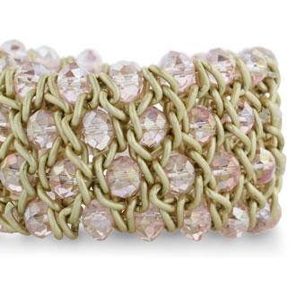 Pink Crystal Stretch Bracelet