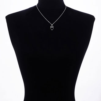 Black Diamond Owl Necklace