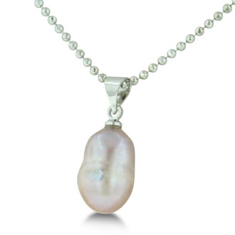 HUGE Natural Pink Freshwater Pearl Drop Shaped Necklace