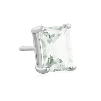 2 1/2ct Emerald Cut Green Amethyst Earrings