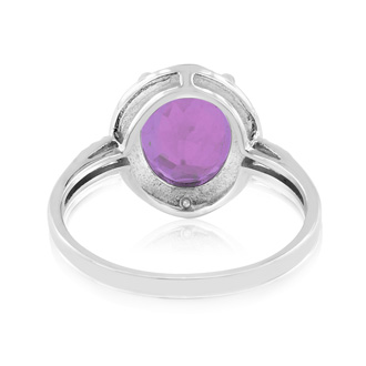 2.75ct Purple Amethyst and Diamond Ring