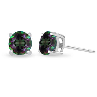 2 Carat Mystic Topaz Earrings in Sterling Silver