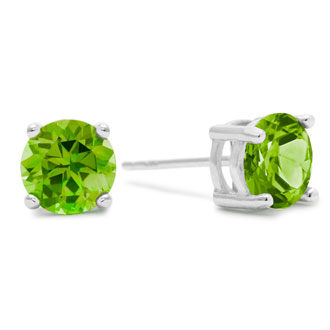 2ct Peridot Earrings in Sterling Silver.