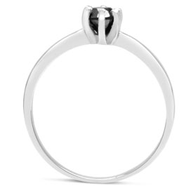 BLOWOUT 1/2ct Black Diamond Ring In Sterling Silver