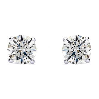 1 1/2ct G/H SI/VS Round Diamond Stud Earrings In Platinum
