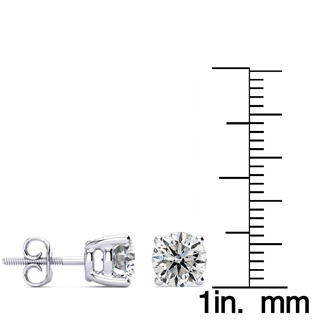 2ct Diamond Stud Earrings Set in Platinum. Excellent Value