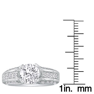 Hansa 2 3/4 Carat Diamond Round Engagement Ring in 18k White Gold