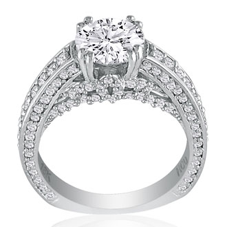 Hansa 1 2/3 Carat Diamond Round Engagement Ring in 18k White Gold