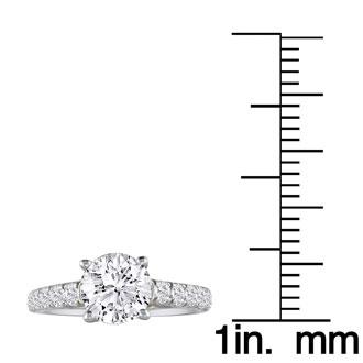 Hansa 1 Carat Diamond Round Engagement Ring in 18k White Gold