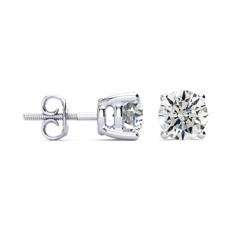 2ct Fine Quality Diamond Stud Earrings In Platinum