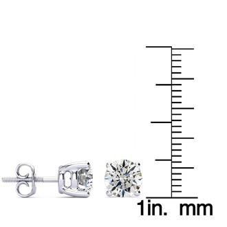2ct Fine Quality Diamond Stud Earrings In Platinum