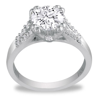 Hansa 1 1/4ct Diamond Round Engagement Ring in 18k White Gold, H-I, SI2-I1, Available Ring Sizes 4-9.5