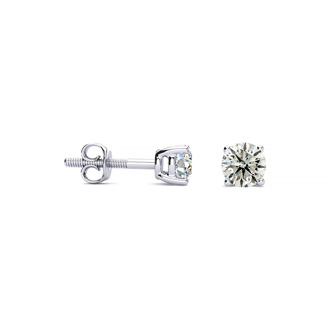1/4ct Platinum Diamond Stud Earrings. A Great Deal!