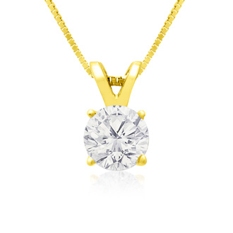 Pretty 2/3ct 14k Yellow Gold Diamond Pendant