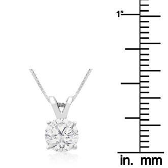 .85ct 14k White Gold Diamond Pendant