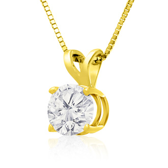 1.50ct Diamond Pendant in 14k Yellow Gold