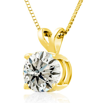 2.00ct 14k Yellow Gold Diamond Pendant
