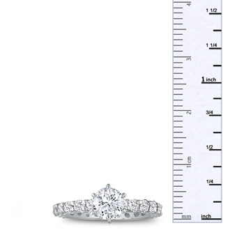 2.50ct Diamond White Gold Eternity Bridal Engagement Ring, Ring Sizes 4 to 9.5
