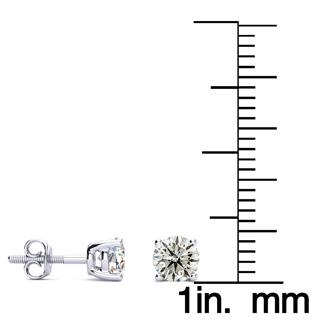 3/4ct Classic Quality Diamond Stud Earrings In Platinum