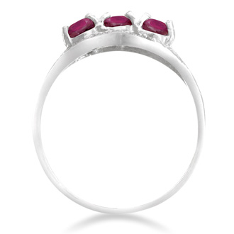 1/2ct Ruby Ring With Diamonds In Sterling Silver, Size 7