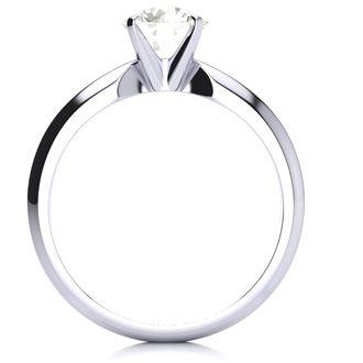 1ct Platinum Diamond Engagement Ring, I/J, SI2/SI3