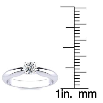 1/4 Carat Diamond Engagement Ring In Platinum