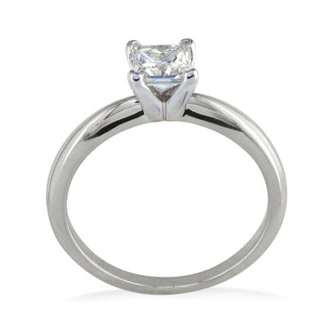 1/4ct Platinum Princess Diamond Solitaire Engagement Ring, G/H, SI1
