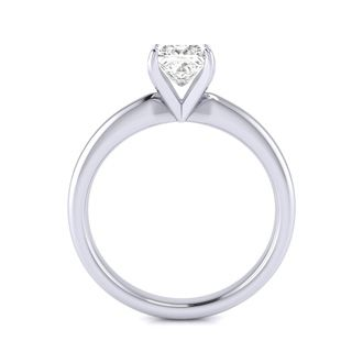 3/4ct Platinum Princess Diamond Solitaire  Ring. G/H SI1/Si2