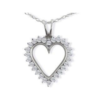 1/2 Carat Classic Diamond Necklace on Free 18 Inch Chain.  Rose Cut Diamond With Just A Touch Of Sparkle