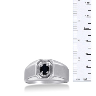 Oval Black Onyx Men's Ring Crafted In Solid 14K White Gold