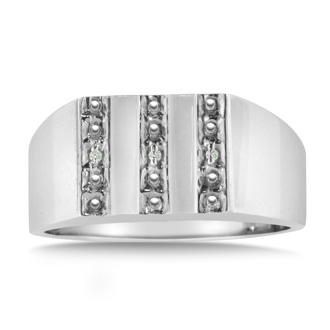 Men's Diamond Ring Crafted In Solid White Gold