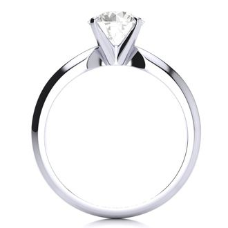1 1/2ct Diamond Solitaire Engagement Ring, 14 Karat White Gold, H-I Color, I1-I2 Clarity