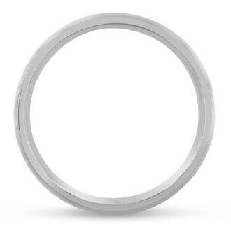 6 MM Brushed Finish Men's Titanium Ring Wedding Band