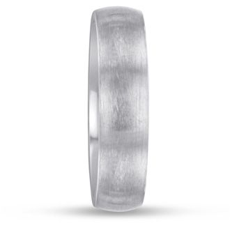 6 MM Brushed Finish Men's Titanium Ring Wedding Band