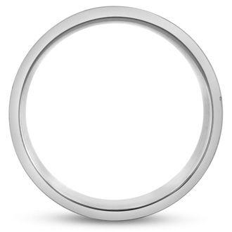 8 MM Brushed Finish Equality Men's Titanium Ring Wedding Band