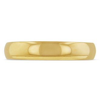 4mm Gold Polished Titanium Wedding Band