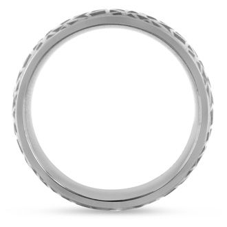 7 MM Textured Men's Titanium Ring Wedding Band