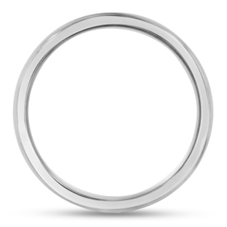 6 MM Brushed Finish Grooved Men's Titanium Ring Wedding Band